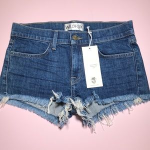 Wildfox dark wash distressed denim